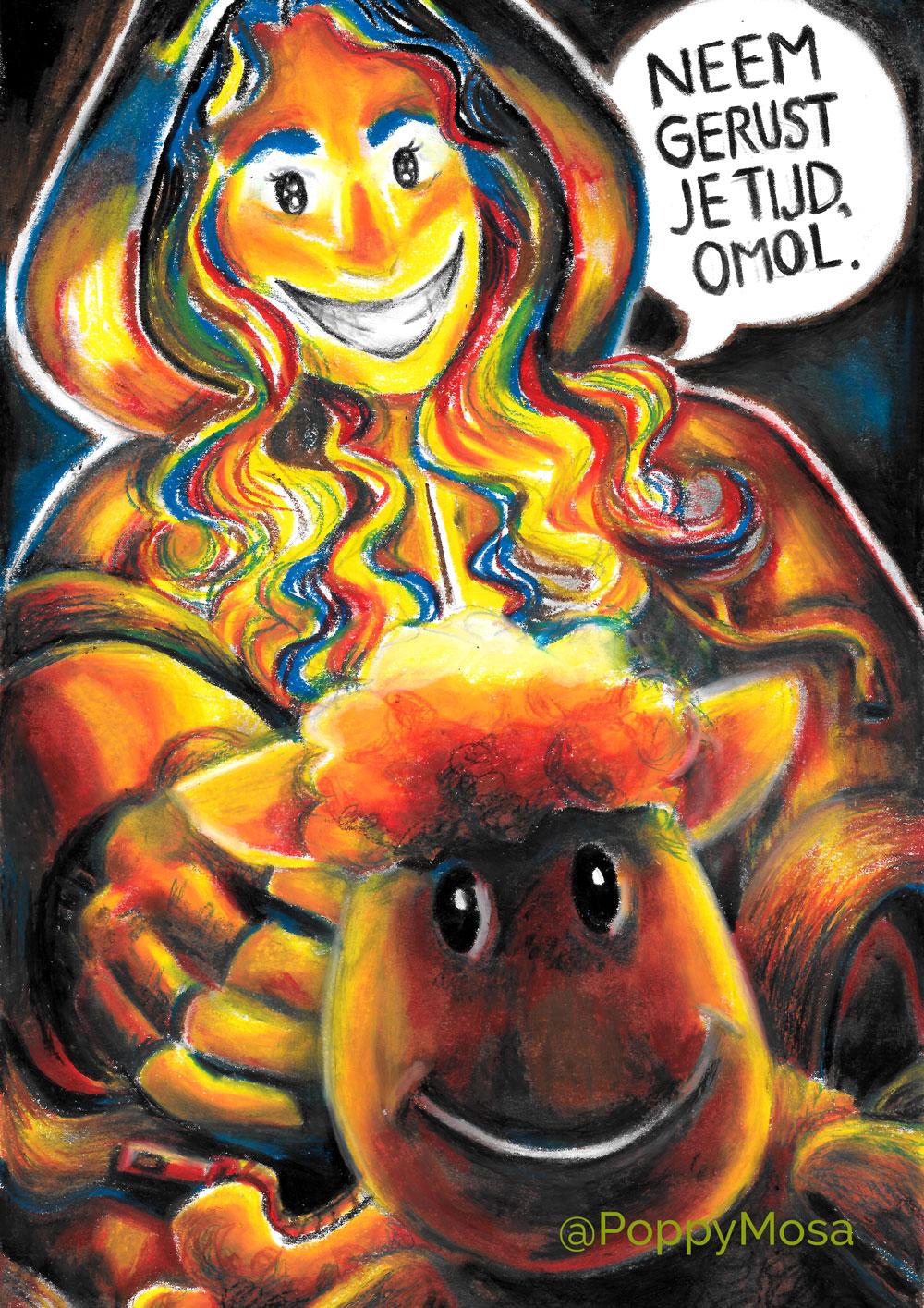 Oil pastel fanzine